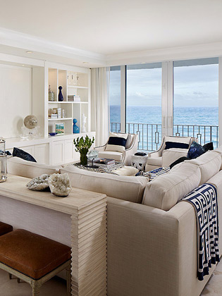 Transitional Oceanfront Beach Home